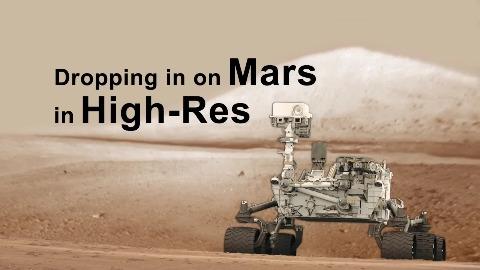 Curiosity - hochauflösendes Video der Marslandung