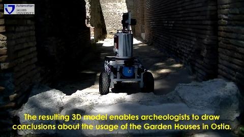 Roboter Irma3D im Einsatz in Ostia Antica