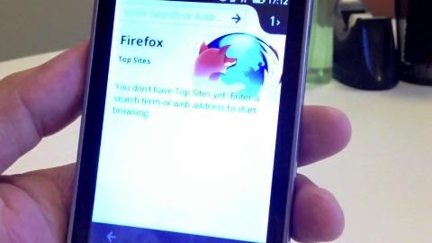 Firefox OS auf einem Smartphone