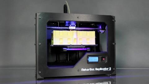 3D-Druck mit Makerbot Replicator 2 im Zeitraffer