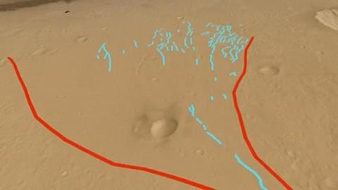 Schwemmfächer auf Erde und Mars