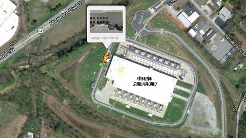 Google Rechenzentrum in Street View