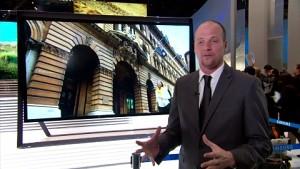 Samsungs UHD-TVs mit 85 und 110 Zoll (CES 2013)