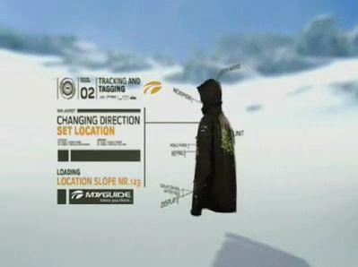 GPS-Jacke für Skifahrer