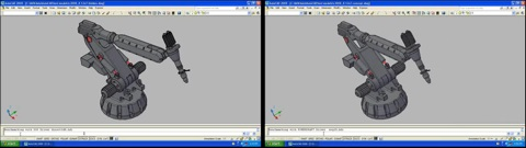 AutoCAD 2007 Links GeForce 8600 GT rechts Quadro 3700